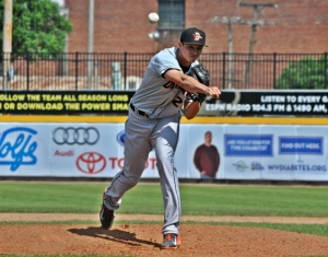 Rheault has excelled out of the bullpen for the Shorebirds in 2014